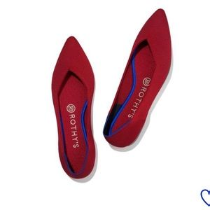 "Rothys chilli red ""the point"" flats NEW"